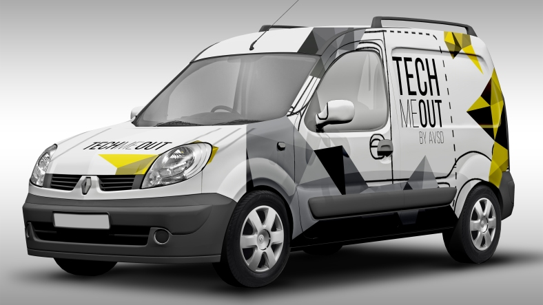 Car Wrap Designed for Tech Me Out