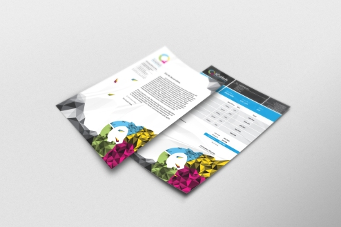 Letterhead and Invoice Templates designed for iCatch Marketing