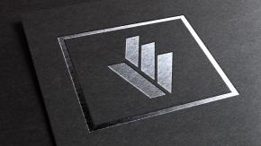 Silver Foil Mockup for Logo designed for Lovato