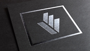 Silver Foil Mockup for Logo designed for Lovato
